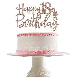 Amazon.com: Decoración para tarta de 18 cumpleaños con ...