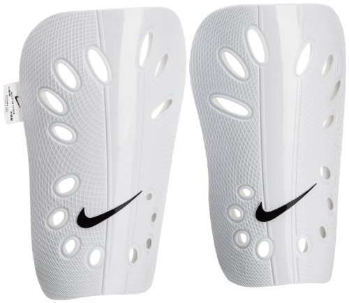 Nike J Guard (White, Medium) (White Soccer Shin Guard)