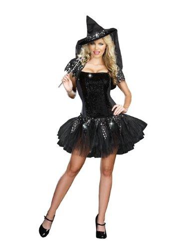 miglior sito web nuovi stili selezione migliore New da strega nero con paillettes gonna stile tutù costume ...