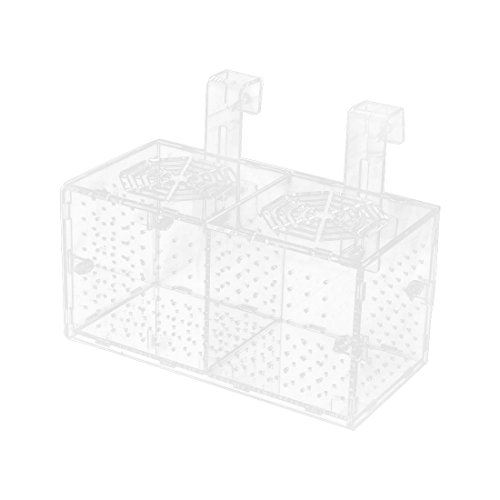 uxcell Plastic Aquarium Double-deck Fish Hatchery Floating Isolation Breeding Box Clear by uxcell