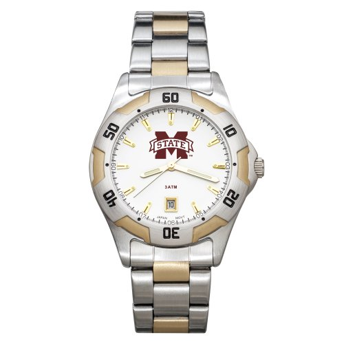 NCAA Mississippi State Bulldogs Men's All-Pro Two-Tone Watch by Logo Art