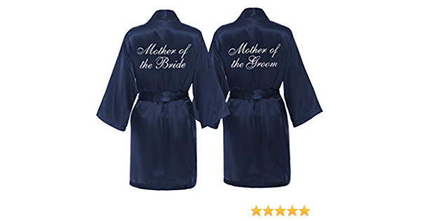 Mother of the Groom Robe MANY COLORS Mother of the Groom Gift Mother of the Bride Robe Set of 2 Satin Robes Mother of the Bride Gift