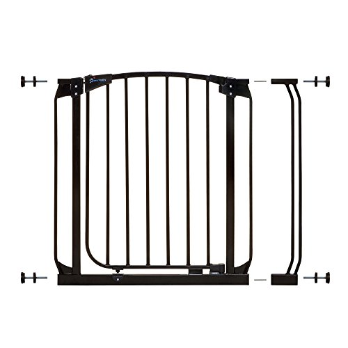Dreambaby Chelsea 28-35.5in Auto Close Security Gate w/Stay Open Feature- Black