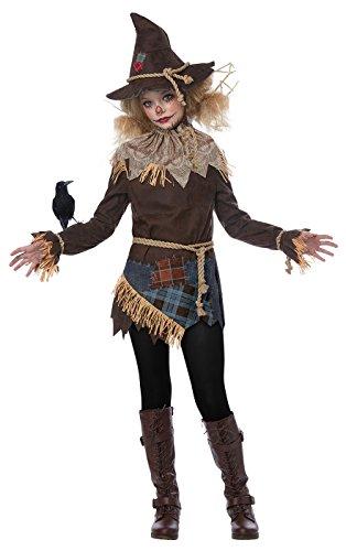Girls Creepy Scarecrow Costume Large (Creepy Womens Halloween Costumes)