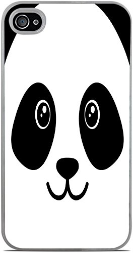 Cooliphone4Cases.com-2841-Panda Bear Face Cute White Hardshell Case for iPhone 4 / 4S by Moonlight Printing-B01KW8BK4Y-T Shirt Design