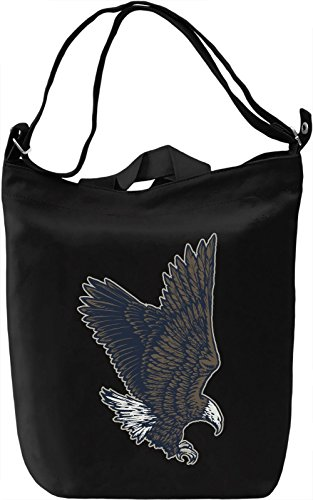 Flying eagle Borsa Giornaliera Canvas Canvas Day Bag| 100% Premium Cotton Canvas| DTG Printing|
