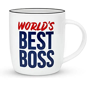 9647b7df555 Gifffted The Worlds Best Boss Ever Coffee Mug, Bosses Day Gifts Ideas. Funny  Present For My Greatest Boss Male or Female, Men, Women, Great Office Gift  Mugs ...