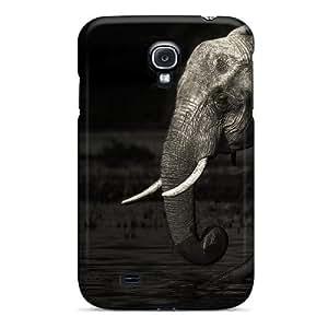 Hot Style MYtav1810bGntD Protective Case Cover For Galaxys4(elephant Family)