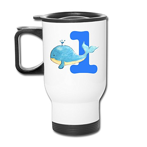 Whale First Birthday Present Insulated Coffee Thermos -