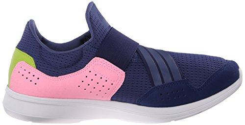 Adidas Performance Lite Resbalón-en el zapato corriente, negro / negro / blanco, 5 M US Raw Purple/Raw Purple/Pink