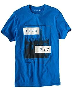 Men's Aero Empire Logo Graphic Tee Blue