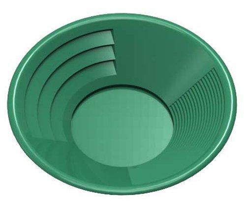 SE GP1011G8 8-Inch Green Gold Pan, Plastic Body, Dual Riffles