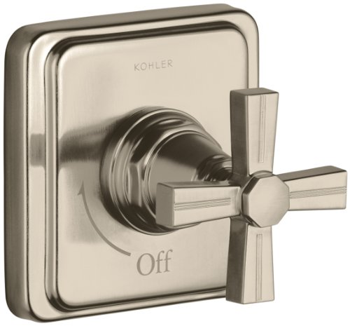 KOHLER K-T13174-3B-BV Pinstripe Volume Control Trim, Cross Handle, Valve Not Included, Vibrant Brushed - Bv Tub Pinstripe