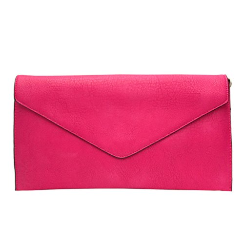 Style Women Bag Faux Purse Wedding Envelope Plum Ladies Leather Clutch New Evening txwFTF