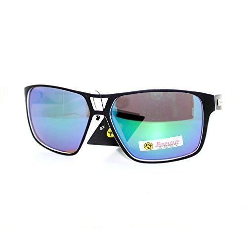 Biohazard 2Tone Pop Color Skater Speed Racer Plastic Aviator Sunglasses - Skater Glasses