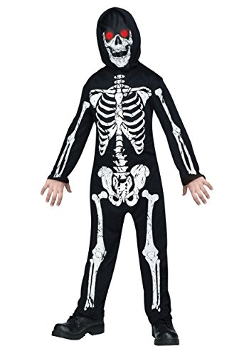 Fade In And Out Skeleton Phantom Costume for Kids (Kids In Halloween Costumes)