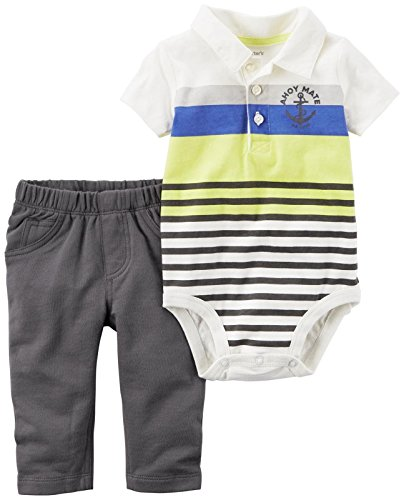 Carter's Baby Boys' Bodysuit Pant Sets 121h158, Ivory, 9M