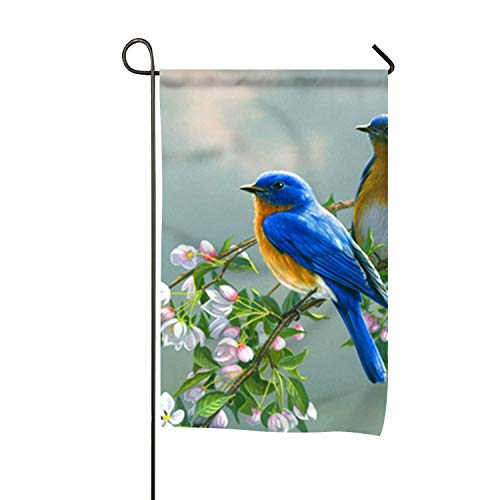 yyoungsell Birds in Branch Outdoor House Flag - 28x40 Double Sided Garden Flag