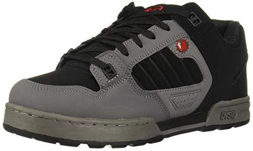 DVS Men's Militia Snow Skate Shoe, Charcoal Black RED Nubuck, 10.5 Medium US (Best Snow Skate Shoes)