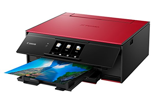 Canon TS9120 Wireless Printer Scanner Copier: Mobile Tablet Printing, Airprint Google Print Red