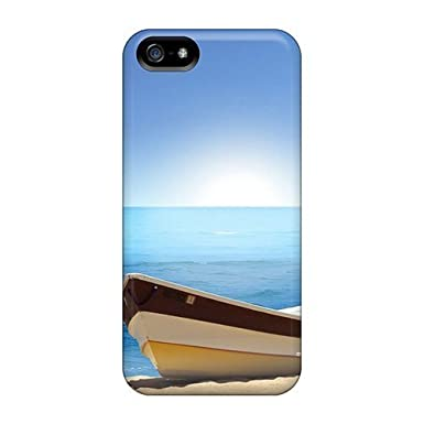 1b2a76499ede54 Awesome Case Cover iphone 5 5s Defender Case Cover(boat Beach)  Amazon.co.uk   Electronics