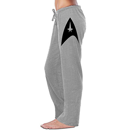 Show Time Women's Starfleet Logo Athletics Sport Gym Sweatpants Ash XL]()