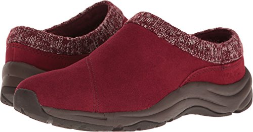 Wine Action - Vionic Women's Clogs Action Arbor Shoes Wine Red Knit Collar Shoes (7, Medium)