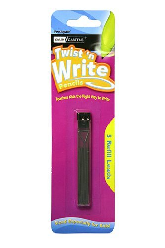 Twist N' Write 5 Lead Refills (Pack of 18, 90 Refills Total)