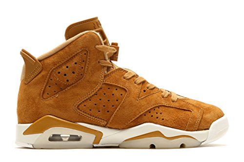 Nike Air Jordan 6 Retro BG Big Kid's Basketball Shoes Golden Harvest, 5