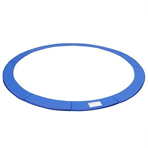 SONGMICS 15FT Replacement Trampoline Safety Pad, Waterproof Surround Spring Cover, Round Foam Pad Blue USTP15FT