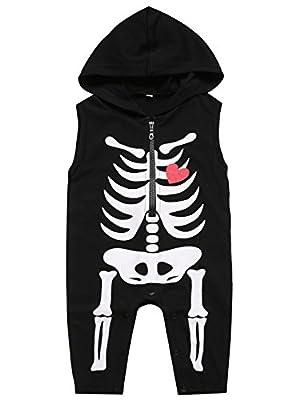 Paddy Field Baby Boy's Skeleton Halloween Costume Hoodie
