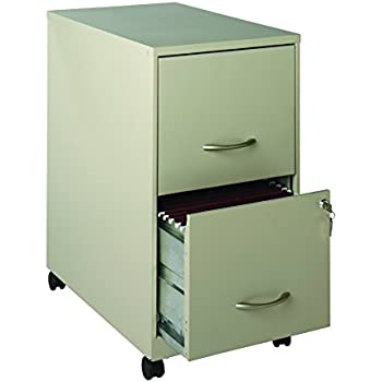 space solutions 22 2 drawer mobile metal file cabinet with wheels and drawer lock. Black Bedroom Furniture Sets. Home Design Ideas