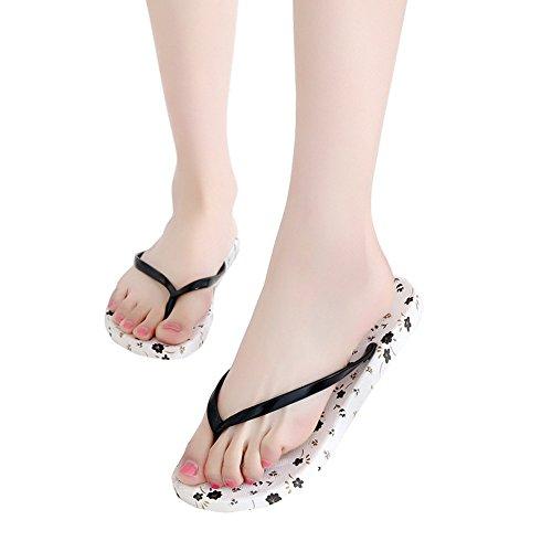 Moda Antideslizantes de Verano Moda 2 Chanclas de Lindas Moda de de de Planas Zapatillas Sandalias Negro Sandalias GOWOLD Color Negro Sneakers de Colegiala Opcional Flores q8a7wnY