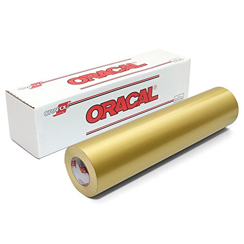 Oracal 651 Glossy Vinyl Roll 24 Inches by 150 Feet - Gold (metallic) ()