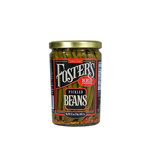 Foster's Pickled Products Green Beans, 32 oz., Red Pepper  (Pack of 3)