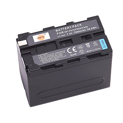 DSTE 2X Replacement Li-ion NP-F970 Battery for Sony DCM-M1 MVC-CD1000 HDR-FX1 DCR-VX2100E DSR-PD190P NEX-FS700RH HXR-NX3 Camera as NP-F930 NP-F950 NP-F960