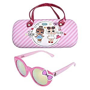 LOL Surprise Kids Sunglasses with Matching Glasses Case and UV Protection