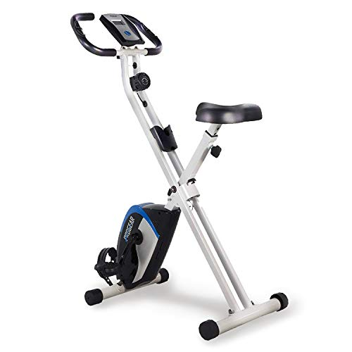 3. ProGear 225 Folding Magnetic Upright Exercise Bike with Heart Pulse