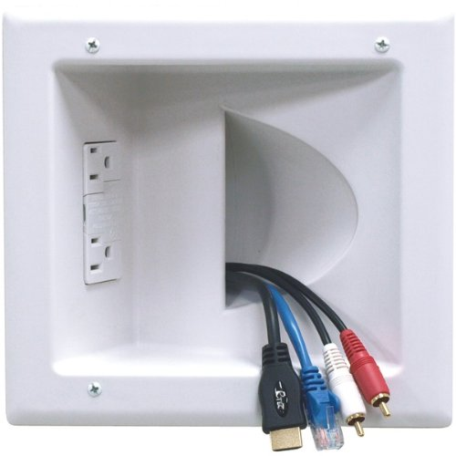Peerless Iba5-w In-wall Plastic Cable Plate (with Surge Suppressor) by Peerless