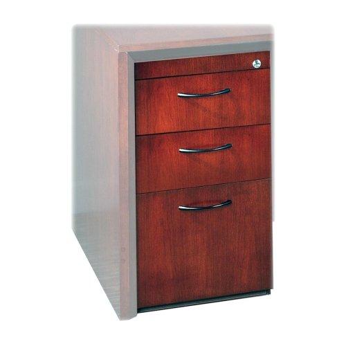 """UPC 760771652012, Mayline Corsica Series Box/Box/File Pedestal-Pedestal, F/ Credenza, Box/Box/File, 15""""x18""""x27"""", Mahogany"""