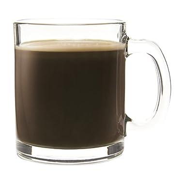 Set of 6 Latte/Macchiato Glass Mugs, 11 Ounce