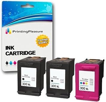 Printing Pleasure 3 XL Compatibles Cartouches d encre Remplacement pour HP  300XL pour Deskjet D1660 0f31212eda43