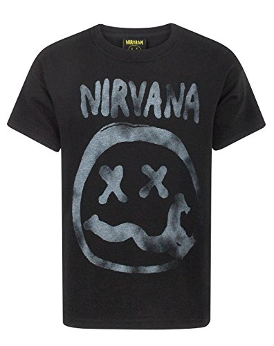 Nirvana Smiley Logo Boy's T-Shirt (13-14 Years) (Rock Boys Tee)