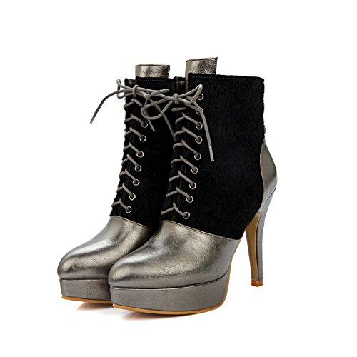 Pinker Boots Horsehair Bottom Heel BalaMasa Platform Womens Winkle Metallic Matching Color Thick q77vBEwxa