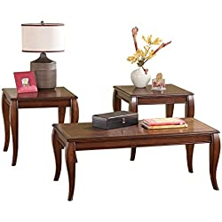 Ashley Furniture Signature Design - Mattie Occasional Table - Set of 3 - Reddish Brown