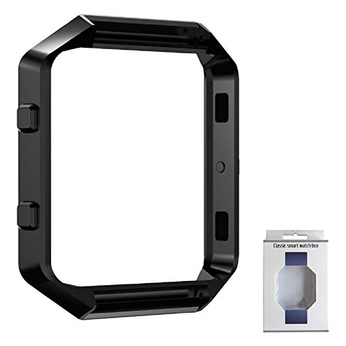 Fitbit Blaze Frame, RUIYI Replacement Accessory Stainless Steel Protective Metal Frame Housing for Fitbit Blaze Smart Watch (Black)