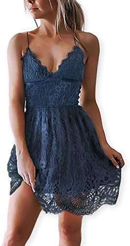 AOOKSMERY Summer Spaghetti Backless Dresses product image