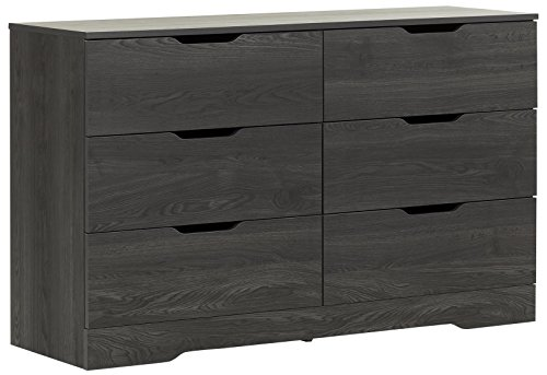 (South Shore Holland 6-Drawer Double Dresser, Gray Oak)