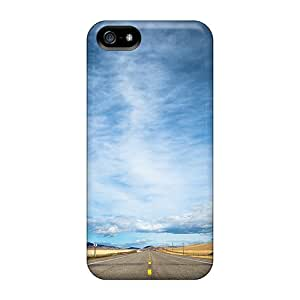 Durable Protector Case Cover With Never Ending Highway Hot Design For Iphone 5/5s