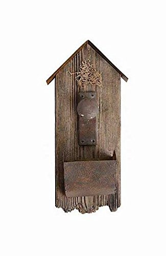 kk 18 Inch Rustic Barn Board Birdhouse with Door Knob Detail ()
